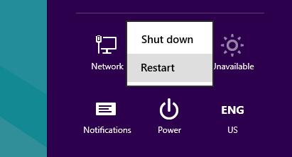 windows 8 restart shift